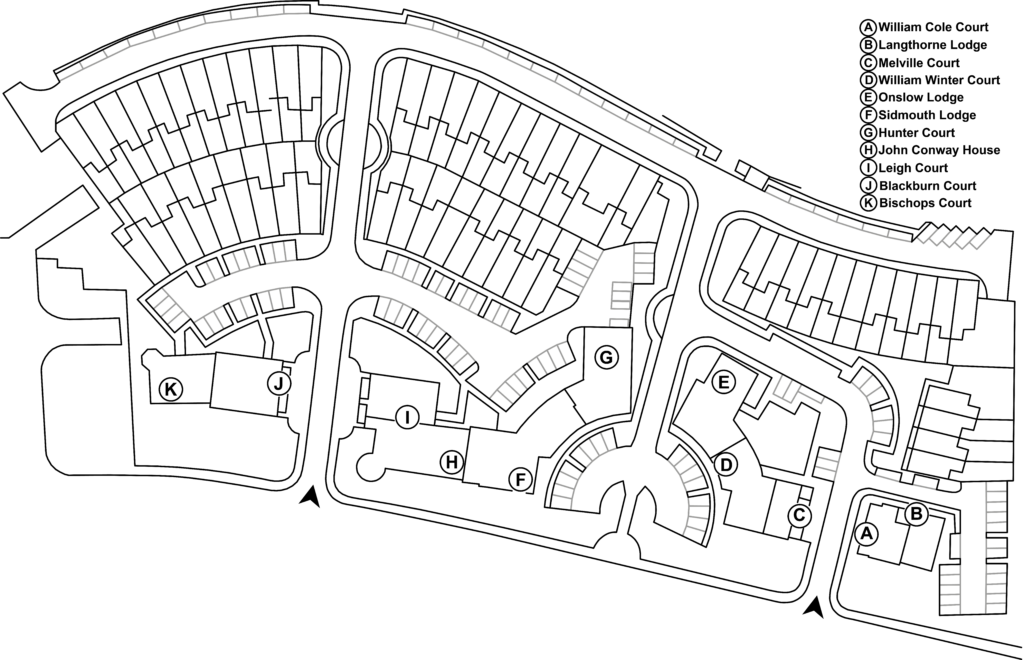 Map of Brockwell Gate